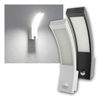 LED Außenleuchte PIRYT | weiß/schwarz | PIR Eingangsleuchte