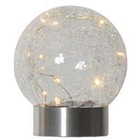 LED Deko-Kugel, Bruchglas Dekoleuchte, Kugelleuchte Solar