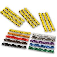 Cable marker clips | 90/100 pieces | with numbers or letters