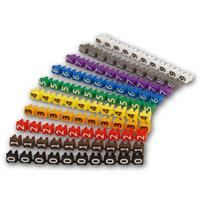 bedruckt mit Ziffern oder Buchstaben, verschiedenfarbigen Kunststoffringe