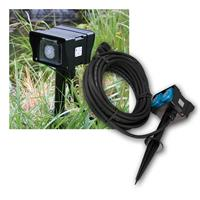 Garden socket with timer | 2-fold | 2 10m cable | IP44