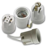 E27 ceramic socket with different types of mounting 230V