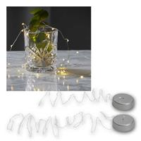 "LED wire fairy lights ""String Dew Drops"" 20/40 LED, 1 or 2m"