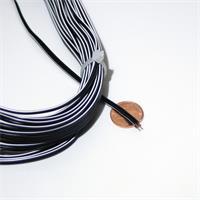 zweiadrige Kupferlitze mit Aderfarben schwarz/schwarz-weiß