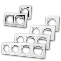 FLAIR Einfach- und Mehrfachrahmen | Unterputzrahmen weiß