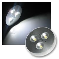 LED puck light Aluminium Spot 3x1W pur-weiß 12V DC