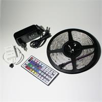 LED Komplettset bestehend aus 5m RGB Streifen, Controller und Netzteil