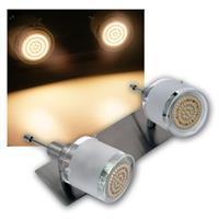 2er DESIGN LED Decken-Strahler, 60er SMDs ww, 230V