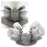 4er DESIGN LED Decken-Strahler, 60er SMDs kw, 230V
