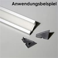 Kunststoff-Endkappen im 2er Set für Winkel-Profil 60°