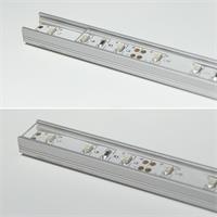 Aluminium-Profil mit transparenter Abdeckung