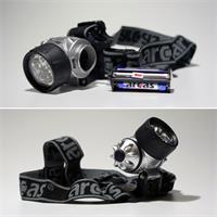 Stirn- oder Helmleuchte mit 3, 6 oder 9 LEDs