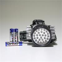 LED Helmleuchte mit verschiedenen Leuchtmodi