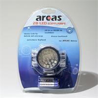 Batteriebetriebene Stirn- oder Helmlampe mit 28 LEDs