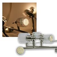6er DESIGN LED Decken-Strahler, 60er SMDs ww, 230V