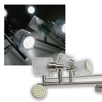 6er DESIGN LED Decken-Strahler, 60er SMDs kw, 230V