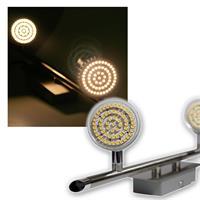 2er LED Leuchte, Edelstahl, 60er SMDs ww, 230V