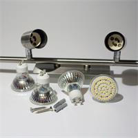 LED Deckenspot mit dreh- und schwenkbaren Strahlern