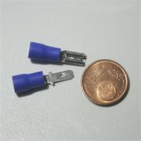 Flachsteckverbinder zur Schaffung einer lösbaren Verbindung, Kennfarbe blau