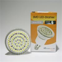 LED Energiesparleuchte in Halogenoptik mit 60 lichtstarken 3528 SMD LEDs