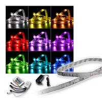 SET 4x 1m RGB-Stripe with power supply-controller