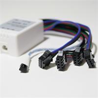 LED RGB Streifen mit RGB Controller mit Anschluss von 4 Streifen