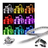 SET 4x 2m RGB-Stripe with power supply-controller