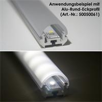 Abdeckung für Aluminium-Rund-Eckprofil in 1m Länge