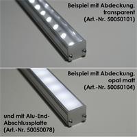 Eloxiertes  U-Profil aus Aluminium für LED-Streifen