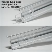 1m langes U-Profil aus eloxiertem Aluminium
