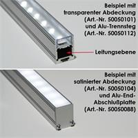 Hohes U-Profil aus eloxiertem Aluminium in 1m Länge