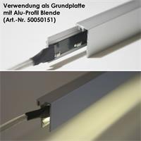 1m lange Aluminium-Grundplatte für Alu-Profile
