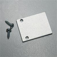 Endplatte aus eloxiertem Aluminium