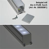 Alu-Abschlußplatte für hohe U-Profile