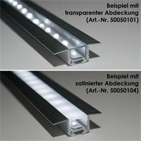 Aluminium-T-Eckprofil für Eck- oder Bodenbeleuchtung