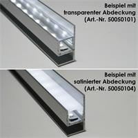 1m langes Alu-Profil als Blende für LED-Streifen