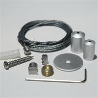 Stahlseilabhängung für in Alu-Profilen verbaute LED-Streifen