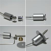 Stahlseilabhängung für Alu-Profile mit LED-Streifen