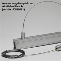 Robuste Seilabhängung für Aluminium-Profile