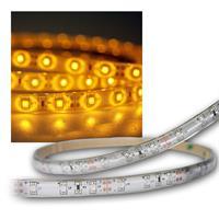SMD Stripe LED 12V, yellow, PCB-white, 5m, IP65