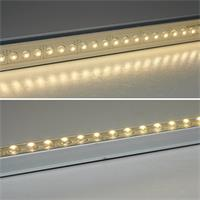 LED Alu Lichtleiste dimmbar IP65 mit 27x festvergossenen 5mm LEDs, sehr hell leuchtend