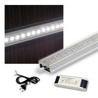 SET 4x50cm LED Alu-Leiste mit Zubehör PUR-WEISS