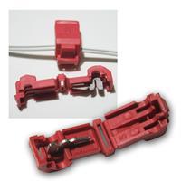 10 Abzweigverbinder für Kabelschuhe ROT 0,5-1,5mm²