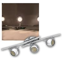 LED DESIGN Leuchte 3-flg, 60er GU10 SMDs ww, CHROM