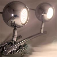 LED Innenraumstrahler aus poliertem Chrom mit perfekter Ausleuchtung