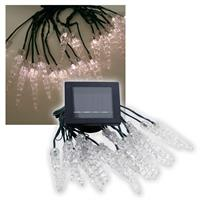 Solar LED-Lichterkette Winterzauber 20 LEDs w-weiß