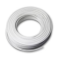 25m twin braid 0.75mm² white/white-gray