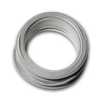 10m twin braid 0.75mm² white/white-gray