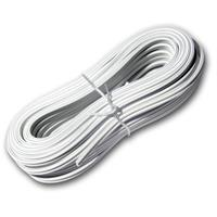 10m twin braid 0.5mm² white/white-gray