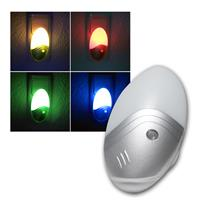 Sensor night light with 1W LED RGB